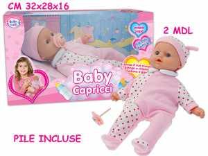 Teorema 63790 - Bambolotto Baby Capricci Con Voce, 29 Cm