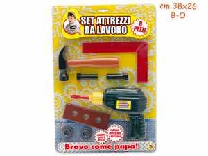 Set Attrezzi Lavoro 8 Pezzi Trapano Batteria - Teorema (64024)