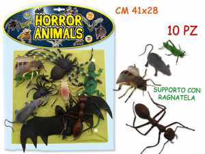 GIOCO ANIMALI HORROR BUSTA PZ.10 71000