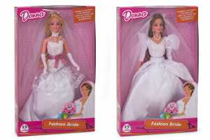 Globo 37202 Bambola Fashion Doll Sposa, 31 Cm