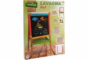 LAVAGNA LEGNO REGOLABILE 3 IN 1 CON ROTOLO CARTA E MAGNETICA 55X106 - Globo (37345)