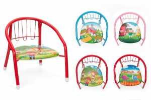 Smart - Sedia Per Bambini, In Metallo 35X32X34 Cm, 1 Pezzo, Colori E Modelli Assortiti