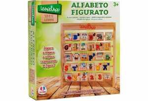 Globo Giocattoli Globo-3750826.5x 28x 7cm Legnoland 6-lines Alfabeto Blocchi In Legno
