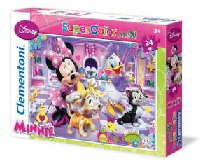 Clementoni 24433 - Maxi Puzzle Minnie And Her Pets, 24 Pezzi