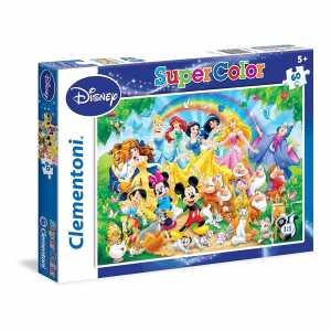 Clementoni 26952 - Puzzle SuperColor Disney Family, 60 Pezzi