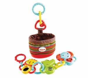 Fisher Price Infant DFP25 - Kit Da Passeggio Animaletti Agganciabili, Multicolore