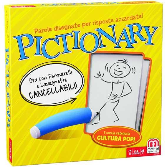 Pictionary Mattel Games,, Gioco In Scatola Per Famiglie, Lingua Italiana,  DPR76