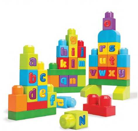 Mega Brands DKX58 - First Builders Sacca Abc Scrivi!, Plastica, Multicolore