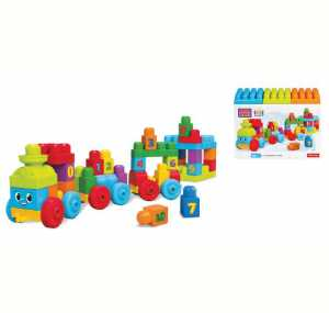 Mega Brands DKX60 - First Builders Impara Con Il Treno, Plastica, Multicolore