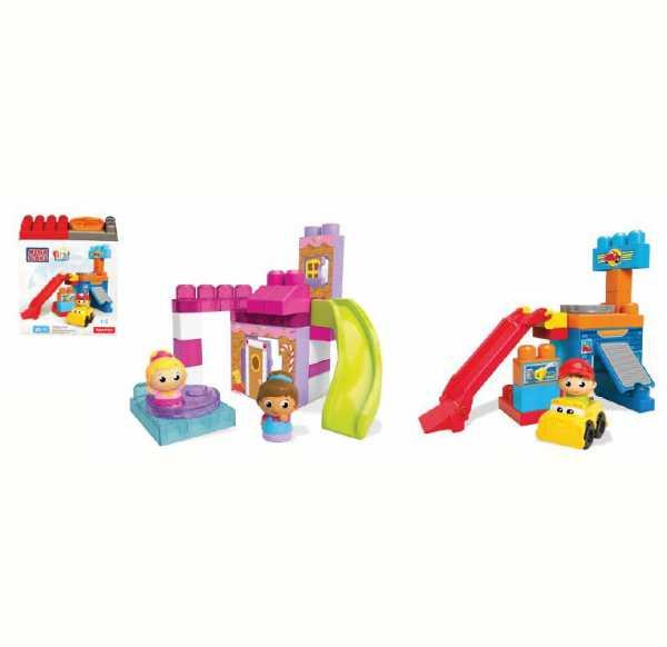 Mega Brands DKX86 - First Builders Playset Crea E Gioca Principesse, Plastica, Multicolore