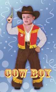 COSTUME BABY COWBOY TG S 3-4AN - Fiori (61344)