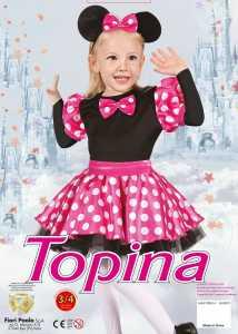 COSTUME TOPINA FUXIA TG 3-4 4-6 - Fiori (61398)