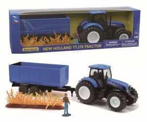 MODELLINO Agricolo Newray-1/32 Trattore NewHolland T7000 C/Rim.Erba/Pers. 05675
