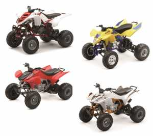 Newray 57473 - Racing Dirt Luxury Honda TRX 450R 2012 ATV, Scala 1:12, Colore Bianco