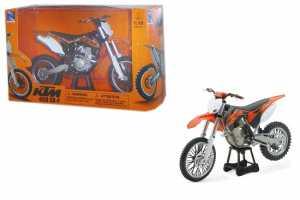 New Ray Motorbike 57623 -KTM Dirt Bike 450 SX-F Fedele Riproduzione, Scala 1:10, Die Cast