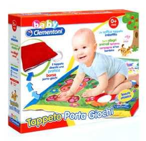Baby Clementoni 17122 - Gioco Tappeto Porta Giochi Amici Animali