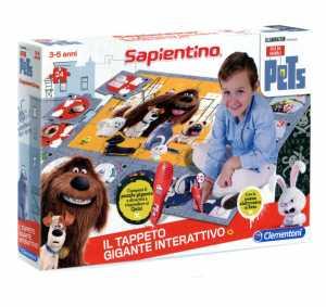 Clementoni 11926 - Gioco The Secret Life Of Pets Il Tappeto Gigante Interattivo