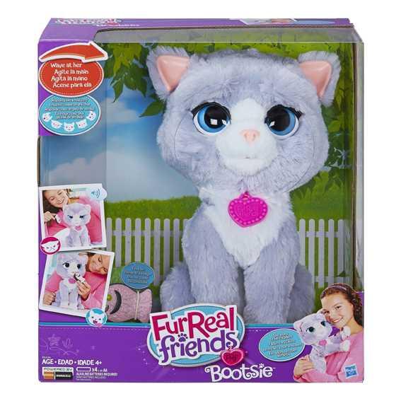 Fur Real Friends B5936EU40 Gattina Bootsie, Grigio