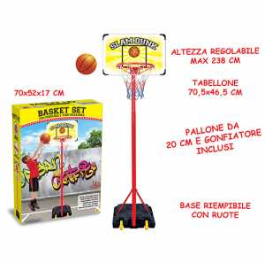 Teorema 63942 - Tabellone Basket Con Palla E Piantana
