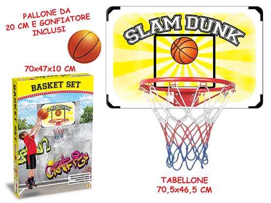 Teorema 63944 - Tabellone Basket Da Parete, Anello 38 Cm