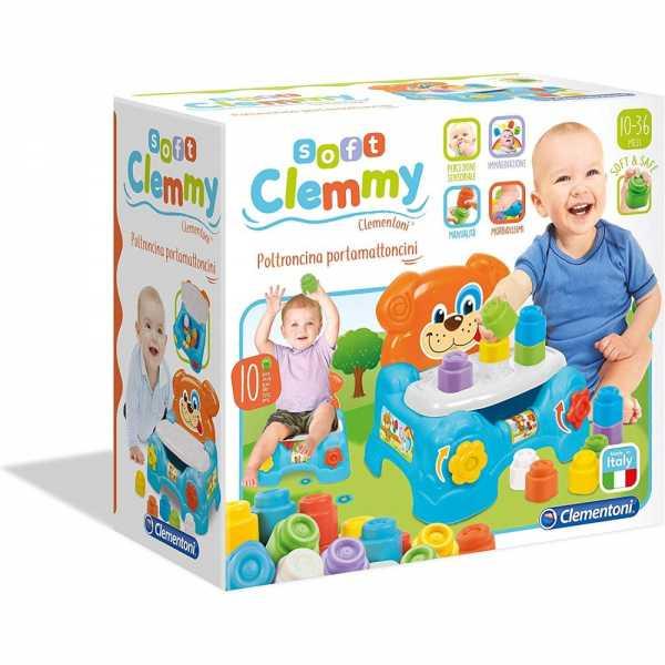 Clementoni 17080 - Baby Clemmy Poltroncina Porta Mattoncini