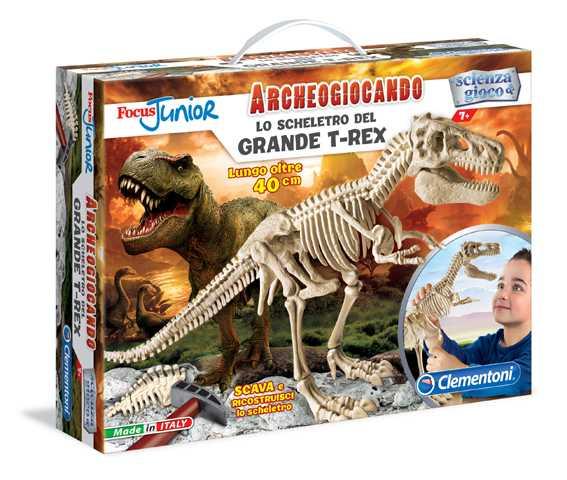 Clementoni 13937 - Focus Junior Archeogiocando Lo Scheletro Del Grande T-Rex