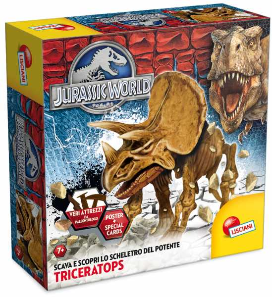 Lisciani 49080 - Jurassic World Super Kit Triceratops