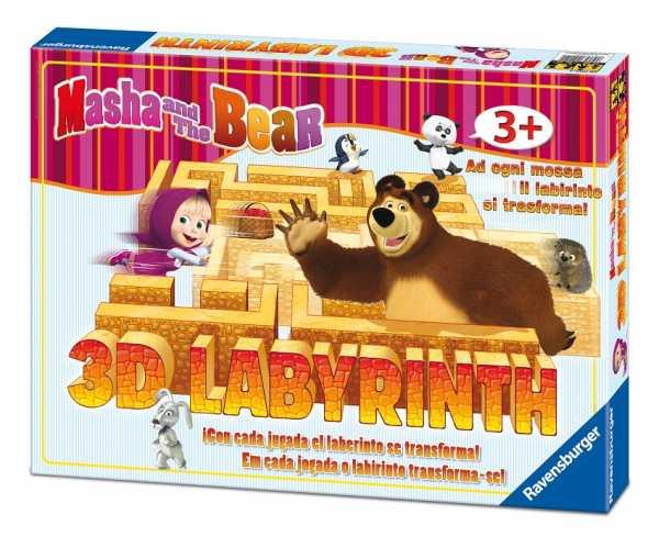 Ravensburger 21180 - Labirinto Junior 3D Masha E Orso