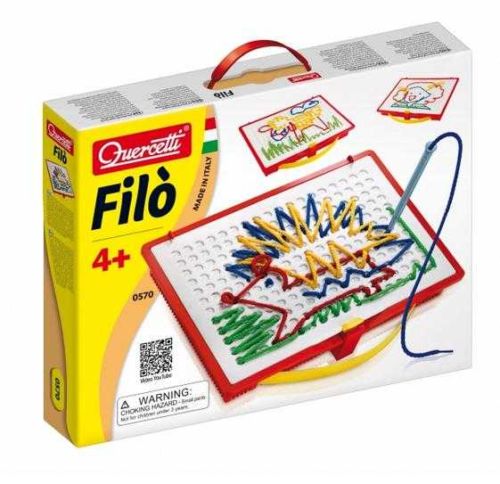 Quercetti 0570 - Filo, Creare Quadri Con I Fili, Compreso Libro Illustrativo E Scatola