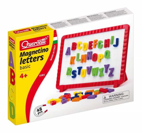 Quercetti 05181 - Gioco Magnetino Letters Basic