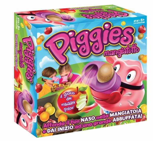 Rocco Giocattoli Piggies Mangiatutto Giochi Da Tavolo, Multicolore, 8027679059599