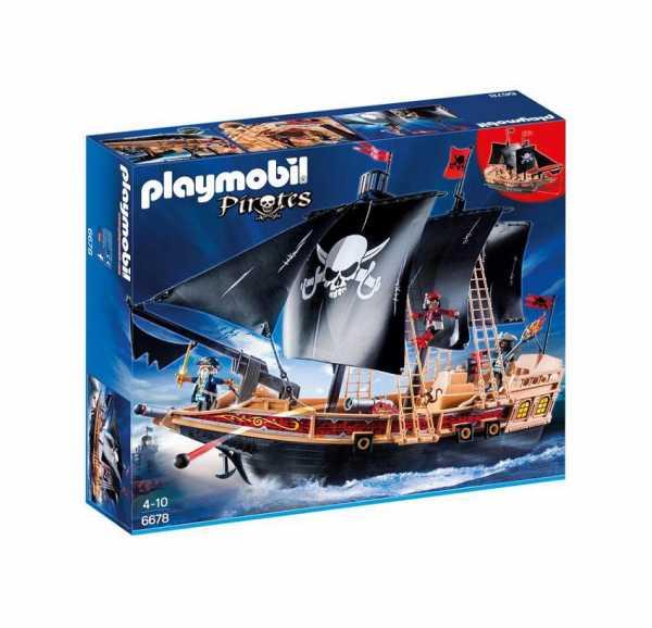 Playmobil 6678 - Galeone Dei Pirati, 3 Pezzi