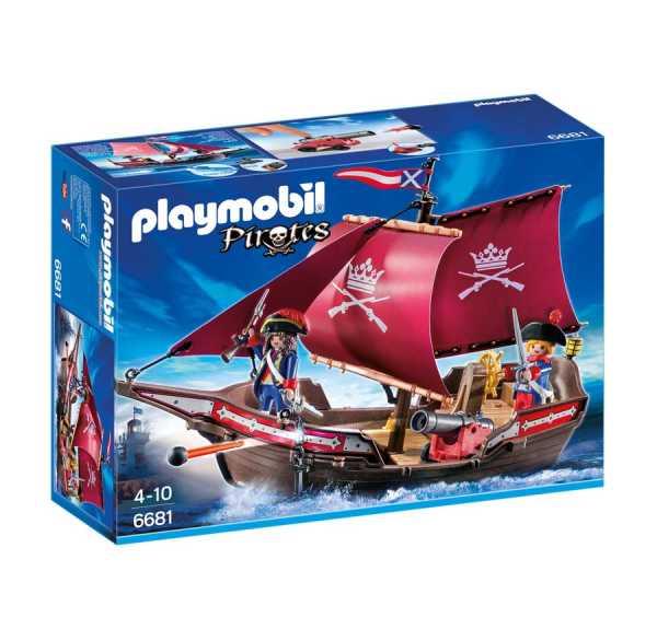 Playmobil 6681 - Fregata Della Marina Reale, 2 Pezzi