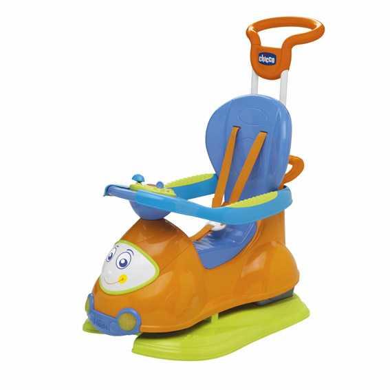 Chicco Quattro Arancione Cavalcabile Primi Passi Prima Infanzia Giocattolo 638, Colore, 8003670913337