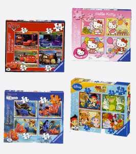 Ravensburger, Dora L'esploratrice, 4 Puzzle Da 12, 16, 20 E 24 Pezzi