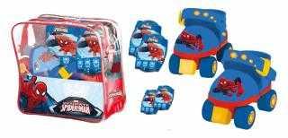 Mondo 18390 - Pattini Per Bambini Spiderman Ultimate + Protezioni, Taglia 22-29