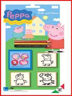 PEPPA PIG Set 5 TIMBRI - Binney & Smith (5875)