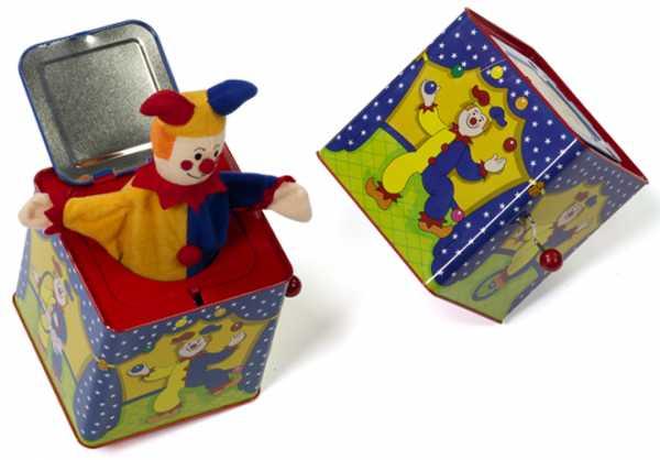 Scatola Musicale Clown Molla - Dal Negro (53666)