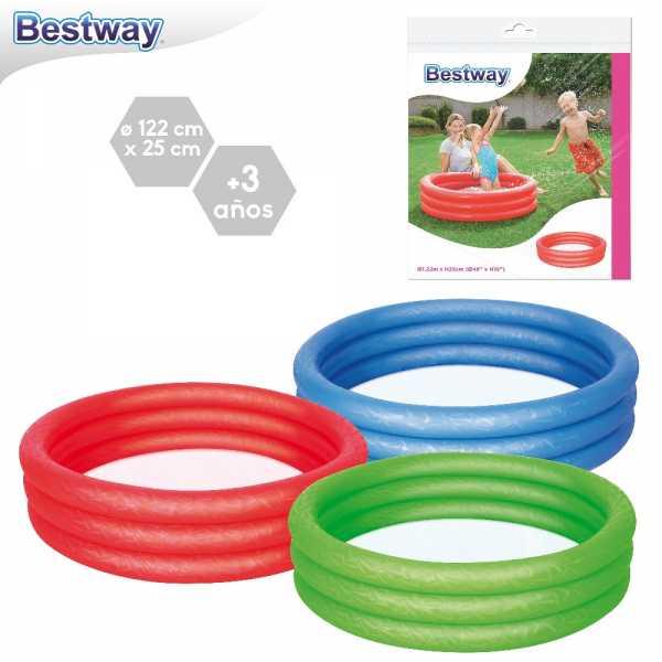 PISCINA PLAY POOL 122X25 CM 3C - Bestway (51025)