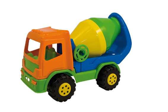Adriatic S.R.L- Adriatic Camion Betoniera 370 Gioco In Plastica Estivo Estate Giocattolo 210, Multicolore, 820072