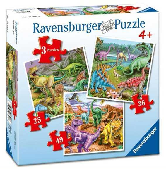 Ravensburger - 07307 - I Dinosauri - Puzzle Progressivo