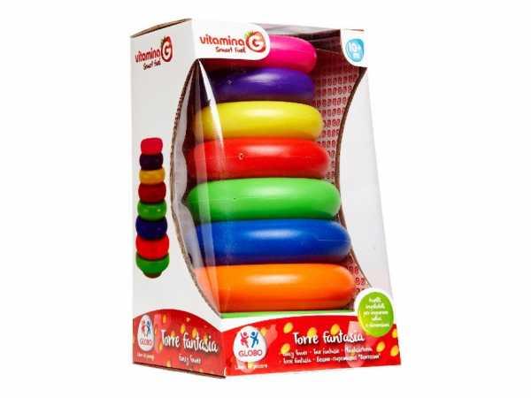Vitamina G- Anelli Impilabili Torre, Multicolore, GLO434