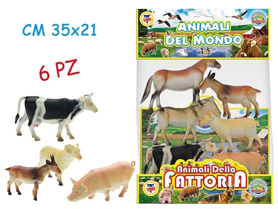 BUSTA ANIMALI FATTORIA Pezzi 6 - Teorema (70601)