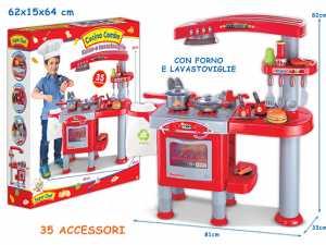 Teorema 63261- Cucina Piccolo Chef Con Forno E Lavastoviglie