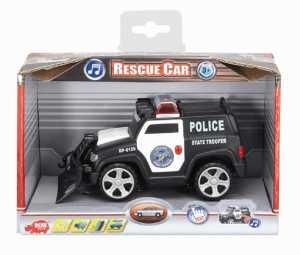 Dickie Spielzeug 203353575 - Modellino Macchina Di Salvataggio Action Series, Lunghezza 15 Cm, Colore: Bianco/Nero