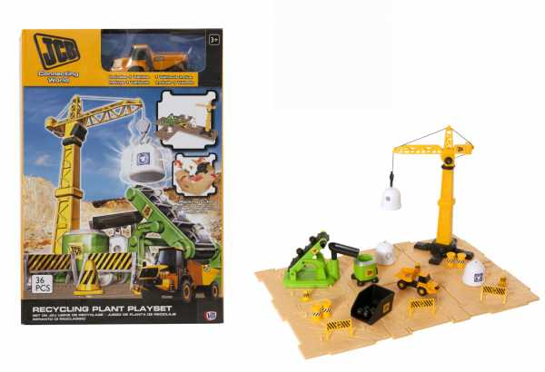Grandi Giochi GG00902 - Set Costruzioni World Recycling JBC