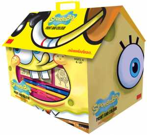 Casetta Timbra E Colora + 7 Timbri Spongebob Multiprint