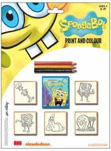 Spongebob Blister Timbra E Colora Spongebob