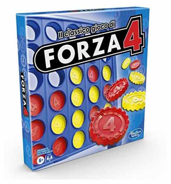 Hasbro Gaming - Forza 4, Gioco In Scatola, Versione 2020 In Italiano, Gioco Per Bambini Dai 6 Anni In Su