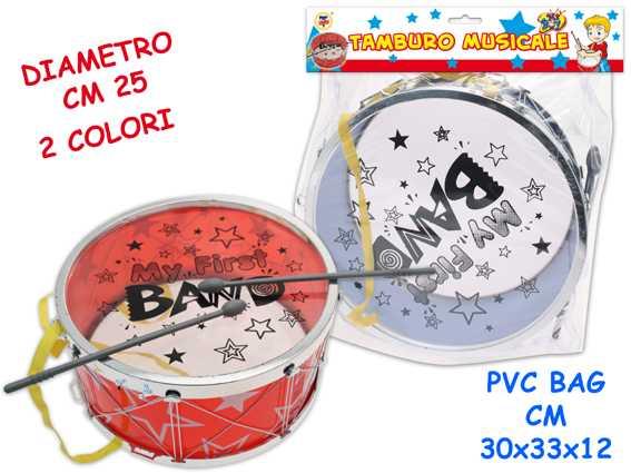 TAMBURO MAGICO CM 24 2 COLORI - Teorema (60722)